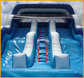 16' Double Lane Wavy Water Slide