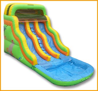 Double Lane Wavy Water Slide