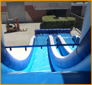 20' Double Lane Wet and Dry Water Slide