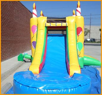 3 in 1 Birthday Cake Bouncer Slide Combo3 in 1 Birthday Cake Bouncer Slide Combo