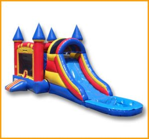 3 in 1 Wet Dry Arch Castle Slide Combo