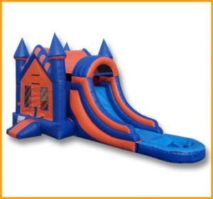 3 in 1 Wet Dry Castle Inflatable Combo