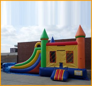 3 in 1 Wet Dry Multicolor Castle Bouncer Combo