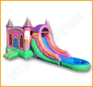 Enchanted Wet/Dry Bouncer and Slide Combo