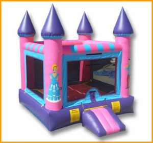 Flat Roof Princess Castle Bouncer