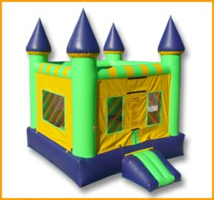 Green and Blue Castle Bouncer