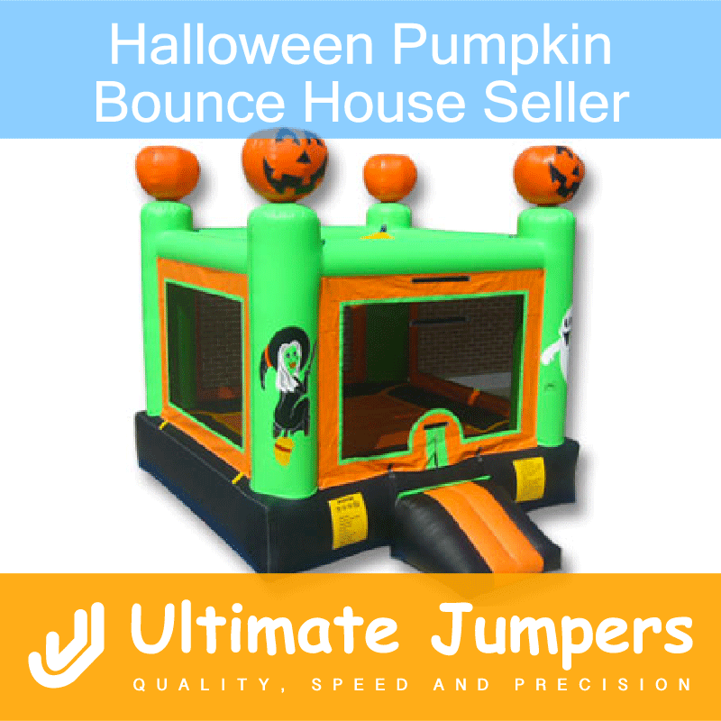 Halloween Pumpkin Bounce House Seller