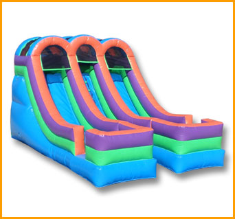 Inflatable 13' Bright Double Lane Slide