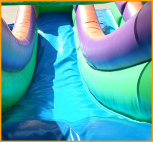 Inflatable 13' Double Lane Slide