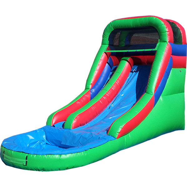 Inflatable Water Slide Safety Rules: Inflatable 14 Foot Front Load Water Slide W116
