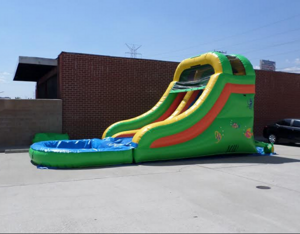 Inflatable 14' Single Lane Water Slide