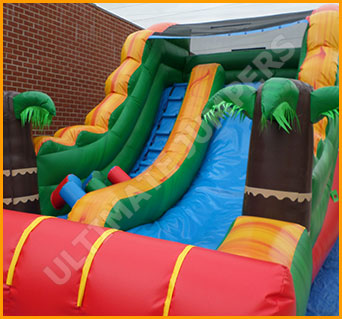 Inflatable 14' Tropical Slide