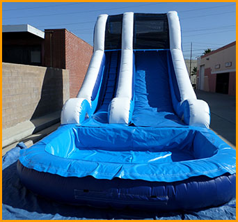 Inflatable 16 Blue Water Slide W066 Ultimate Jumpers