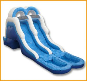 Inflatable 16' Double Lane Water Slide