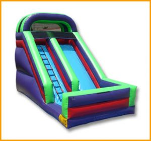 Inflatable 16' Front Load Single Lane Slide