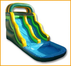 Inflatable 16' Front Load Wavy Water Slide