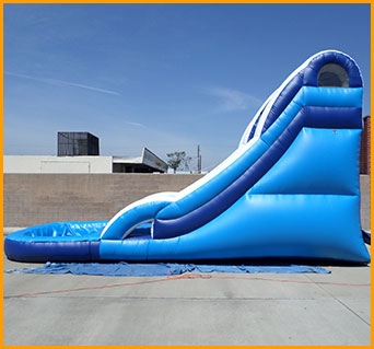 Ultimate Inflatable Backyard Water Park inflatable 16' water slide w067 - ultimate jumpers