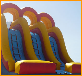 Inflatable 18' Back Load Triple Lane Slide
