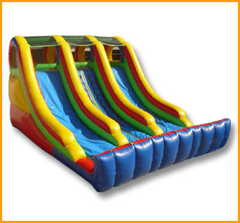 Inflatable 18' Double Climber Slide