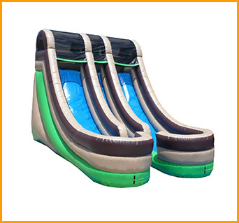 Inflatable 18' Front Load Double Lane Slide