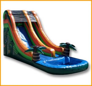 Inflatable 18' Front Load Tropical Water Slide