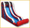 Inflatable 19' Patriotic Single Lane Slide