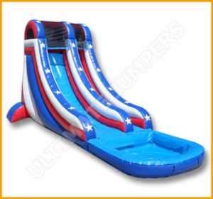 Inflatable 20' Independence Day Water SlideInflatable 20' Independence Day Water Slide