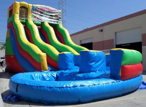 Inflatable 21' Module Double Lane Curvy Water Slide