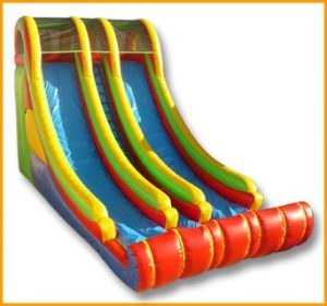 Inflatable 22' Front Load Double Lane Slide