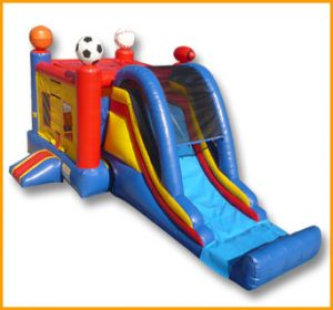 Inflatable 3 in 1 Sports Combo
