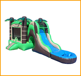 Inflatable 3 in 1 Wet and Dry Tropical Combo