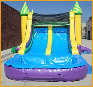 Inflatable 3 in 1 Wet/Dry Double Slide Combo