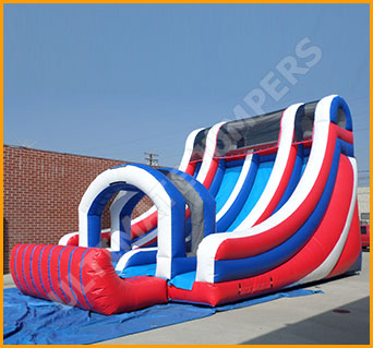 Inflatable All American Double Lane Splash Water Slide