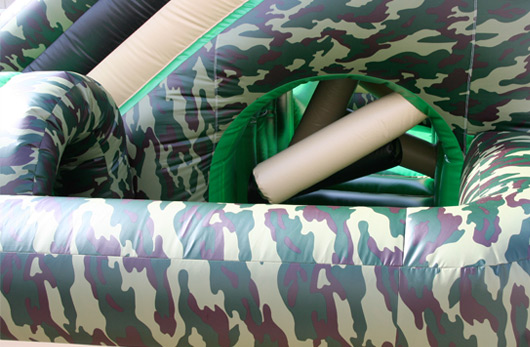 Inflatable Camo Obstacle Course
