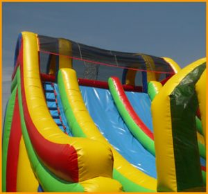 Inflatable Double Lane Splash Water Slide