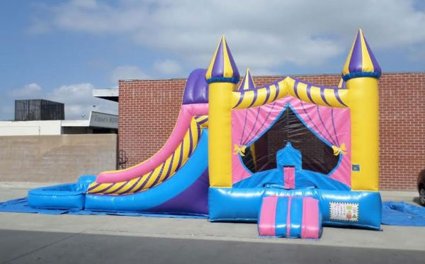 Inflatable Double Lane Wet Dry Princess Combo