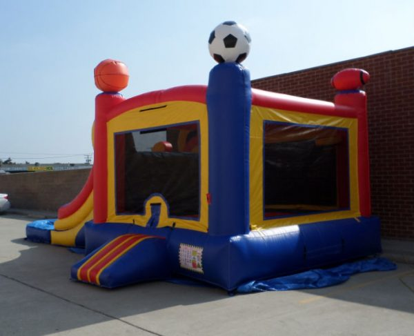 Inflatable Double Lane Wet Dry Sports Combo