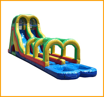 Inflatable Double Load Summer Splash Water Slide