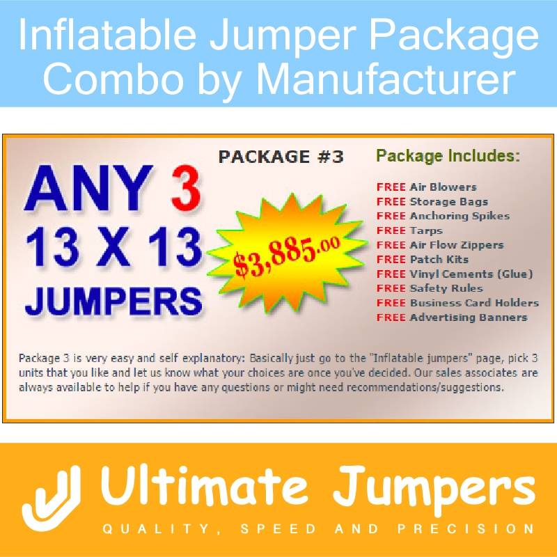 Inflatable Jumper Package Combo by Manufacturer