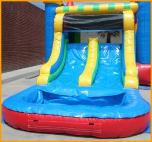 Inflatable Multicolor Wet/Dry Double Slide Combo