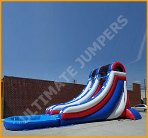 Inflatable Patriotic Splish Splash Water Slide
