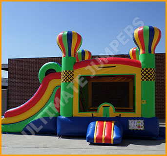 Inflatable Wet/Dry Double Slide Balloon Adventures Combo