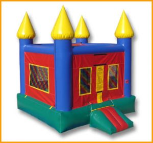 Multicolor Castle Moon Bounce