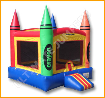 Multicolor Crayon Inflatable Jumper