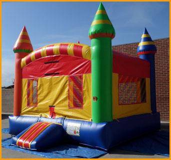 Multicolor Inflatable Castle Jumper