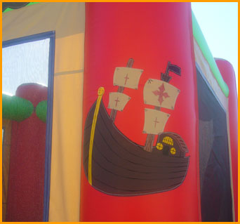 Pirate Ship Inflatable Bouncer