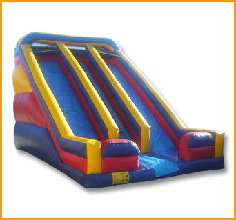 Primary Colors 22' Front Load Double Lane Slide