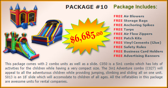 Ultimate Jumpers Bounce Slide Package Deal 10