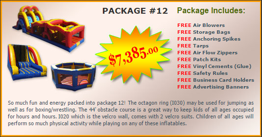 Ultimate Jumpers Bounce Slide Package Deal 12