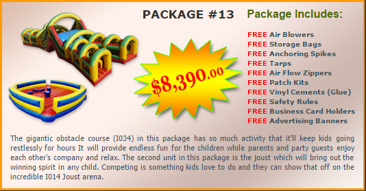 Ultimate Jumpers Bounce Slide Package Deal 13